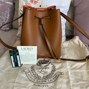 Ralph Lauren Leather Cinch Bag